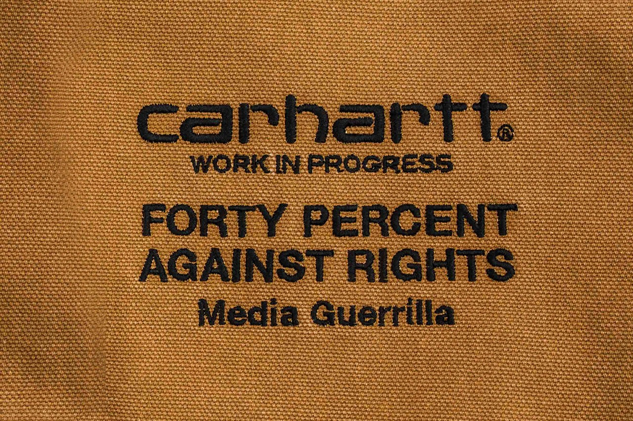 Forty percent against rights Carhartt work in progress SECOND CHANCE Exhibition garments art gallery invincible taiwan exclusive event silk print shop pop up
