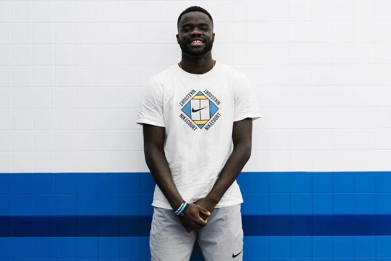 frances tiafoe tennis atp us open 2019 practice serve forehand backhand court nike sneakers amex american express smile serena venus williams american america new york city lebron james