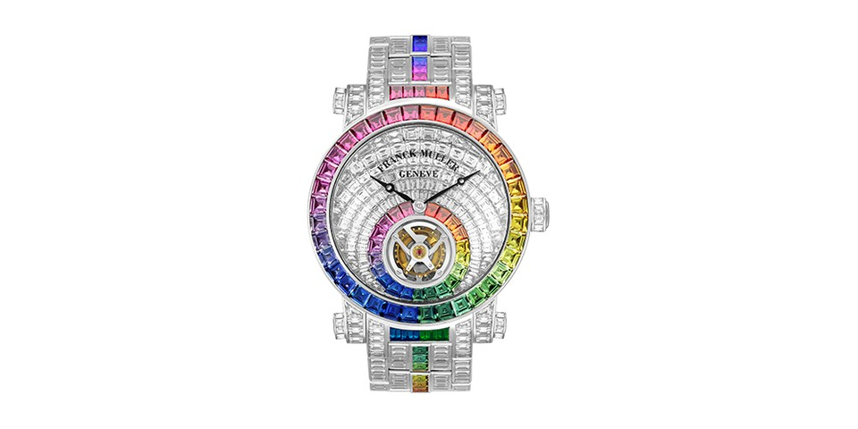 Franck Muller Debuts Rainbow Invisible Setting Tourbillon <b>Timepiece</b>