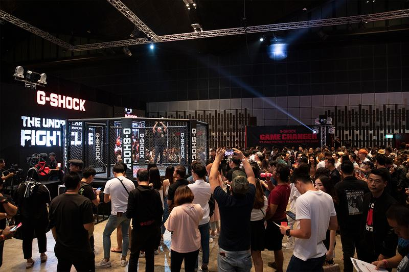 G-Shock Singapore Embrace Local Heroes at The Underground Fight Club Watch Streetwear Singapore Event MMA Music Art Exhibition Immersive