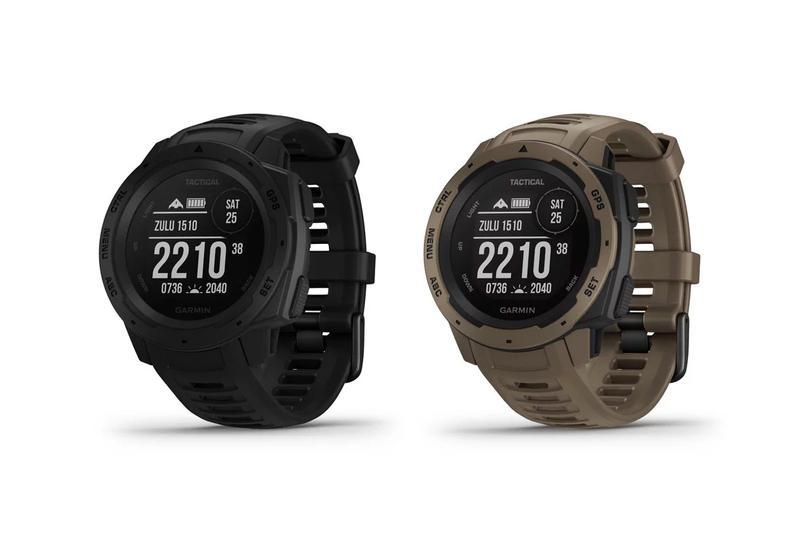 Garmin Instinct Tactical Edition Release Info night vision mission ready skydiving altimeter GPS satellite water shock resistance thermal heart rate sensor