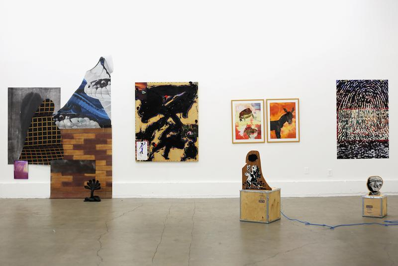 good taste exhibition dover street market los angeles artworks installations sculptures paintings collages