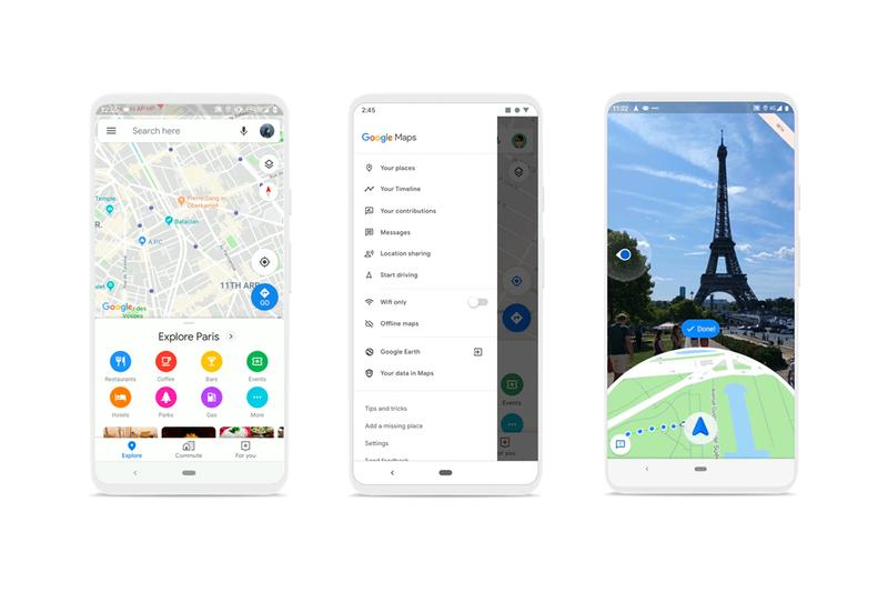 Google Maps Augmented Reality Navigation Amazing local food timeline location history wait time lineup que live view iphone android apple smartphones