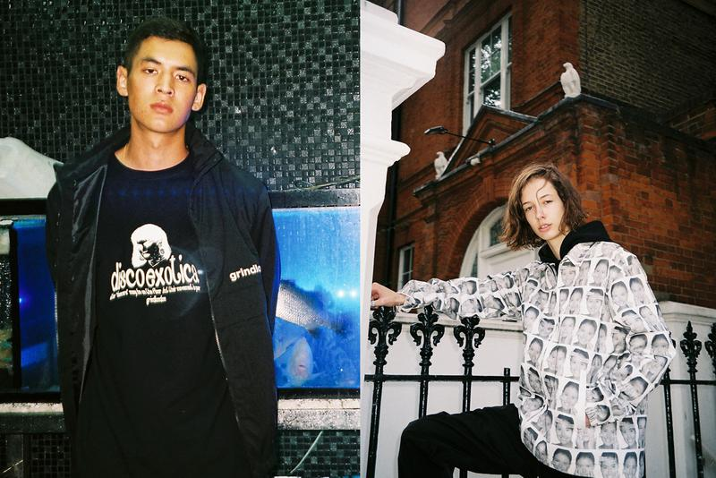 Grind London Fall/Winter 2019 Collection Shirts Trousers Pullovers Hoodies Track Suits Black White Gray Green Aliens Cars Plants