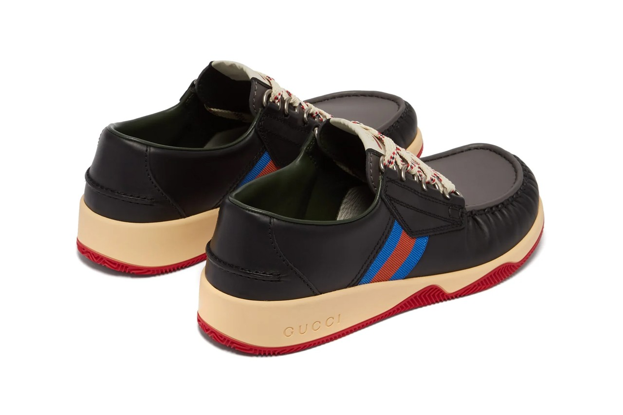 Gucci Agrado Web-Striped Deck Shoes