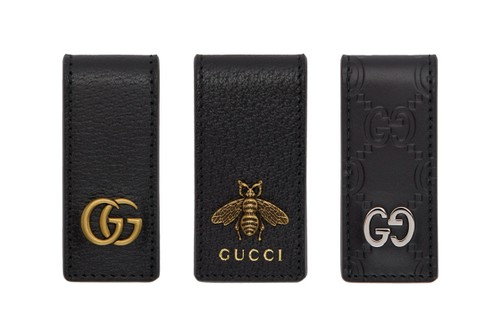 Gucci Drops Luxurious Leather Money Clip Trio