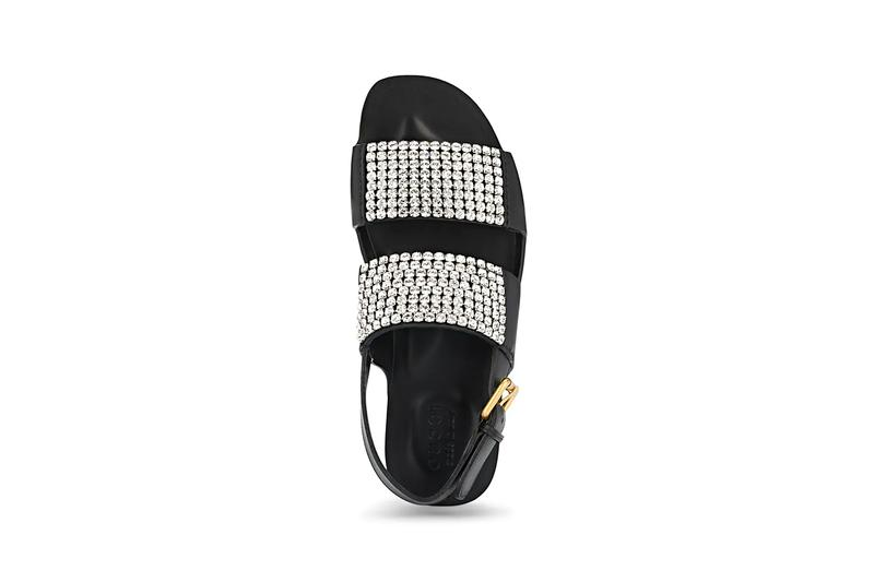 gucci Caballero Crystal Embellished Leather Sandals