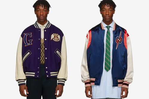 Gucci's Latest Varsity Jackets Embrace Vibrant Collegiate Motifs