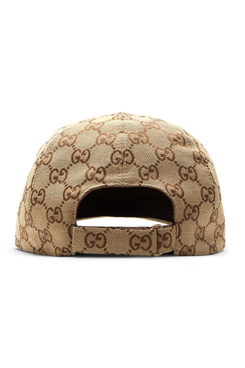 Gucci GG Logo Canvas Bomber Jacket in Beige Jacquard Track Pants Baseball Cap monogram strap white emboridery logo canvas weave cotton blend gold trim