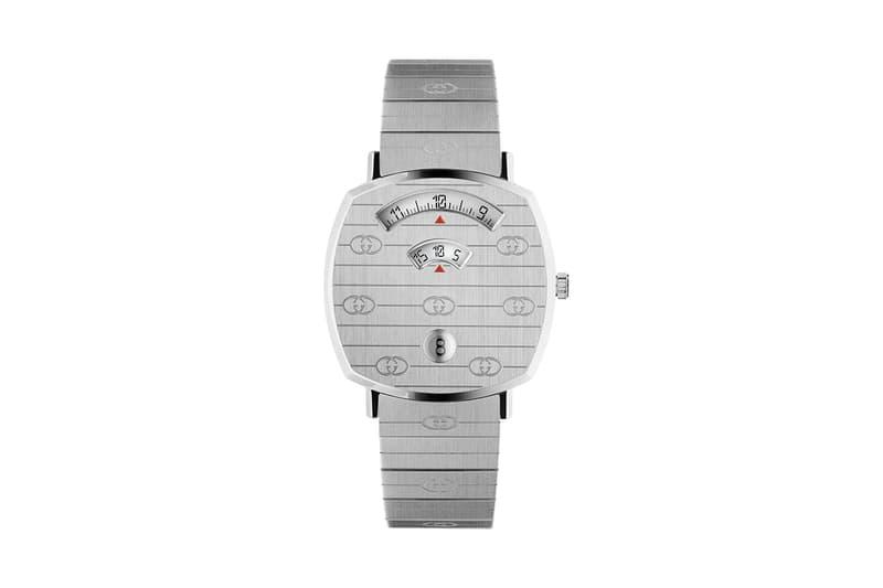 Gucci Grip Watch Release Gold Silver Monogram Three window Quartz