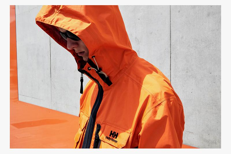 Helly Hansen Spring Summer 2020 SS20 Collection Lookbook Archive Inspiration Outerwear Professional Grade Garments Gear Neutral Tan Orange Blue No More Mondays