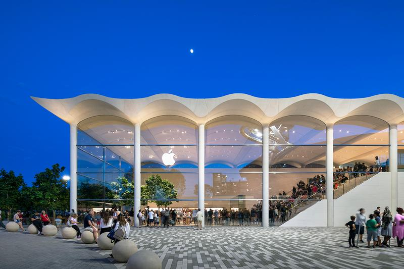 Look Inside Apple Wavy Aventura Store Miami Architecture Foster + Partners