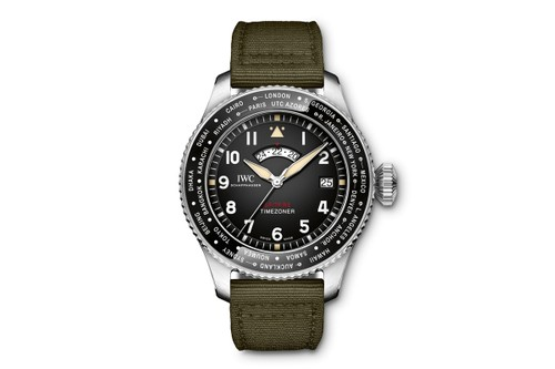 "IWC Schaffhausen's Pilot's Watch Timezoner Spitfire Edition Celebrates the Aircraft's ""Longest Flight"""