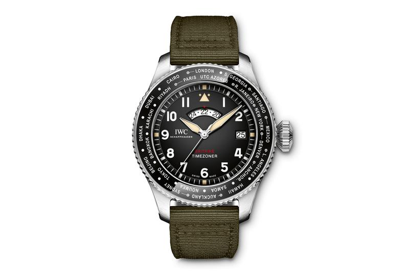 IWC Schaffhausen Pilots Watch Timezoner Spitfire Edition aviation flying silver spitfire the longest flight