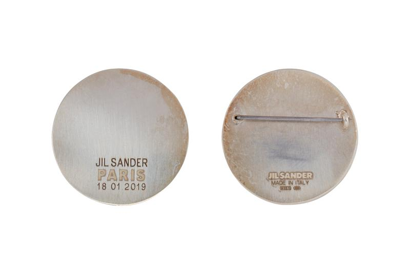 Jil Sander Silver Round Pin SSENSE Pins Accessories marble stone pins style fashion