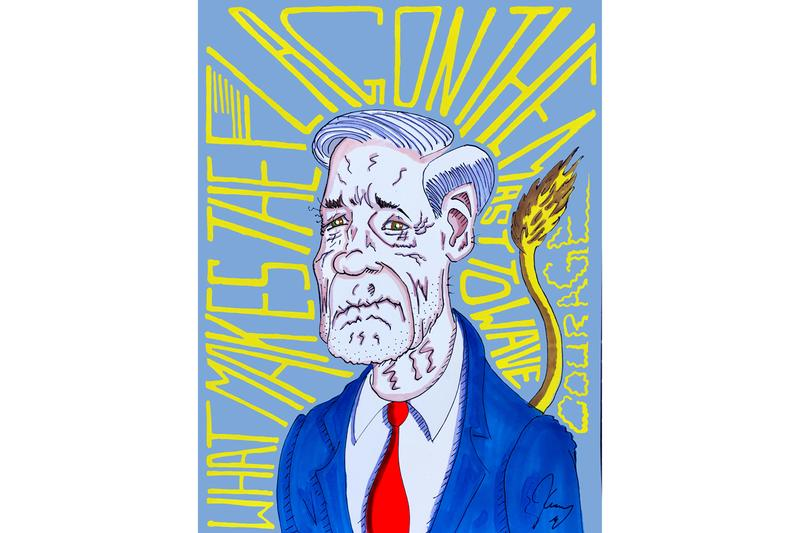jim carrey this light never goes out phi center exhibition political cartoons drawings artworks