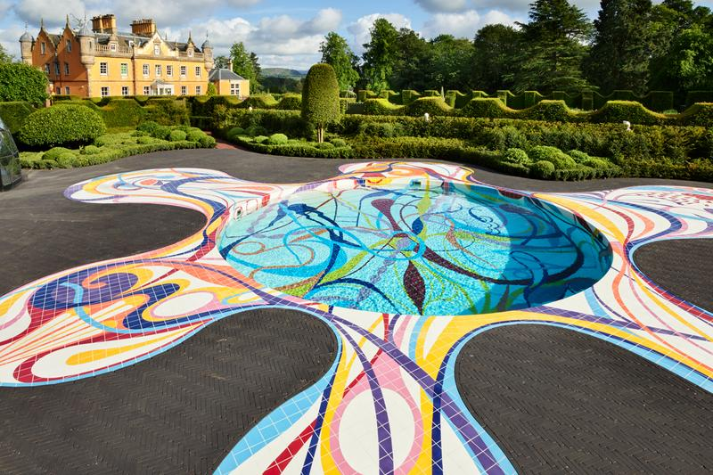joana vasconcelos gateway pool installation jupiter artland edinburgh scotland united kingdom colorful astrology chart