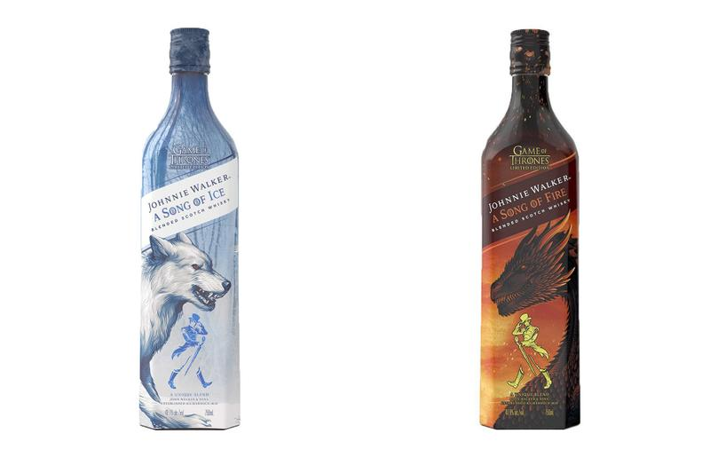 Johnnie Walker & 'Game of Thrones' Connect for Two New Whiskies A Song of Ice Blended Scotch Whisky A Song of Fire.