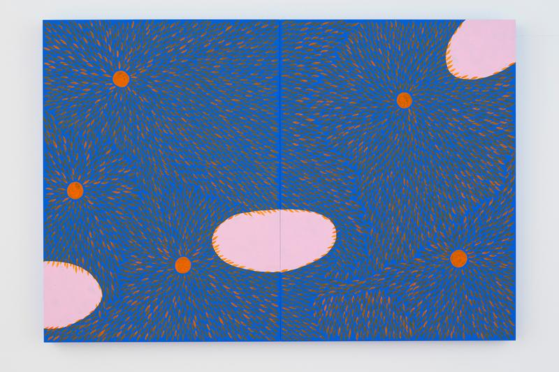 "Julia Chiang ""Pump and Bump"" Solo Exhibition NANZUKA Gallery Tokyo Japan Petals Abstract Blue Pink Yellow Green"