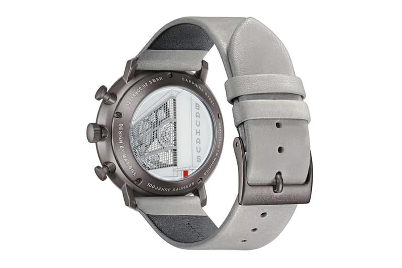 Junghans Max Bill Chronoscope 100 Jahre Bauhaus Release Info watches timepiece chronograph stainless steel dessau german art design school limited edition