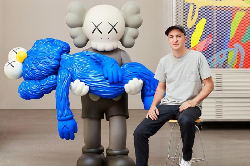 KAWS Gone Exhibition Skarstedt Gallery New York Companion BFF Blue Gray White