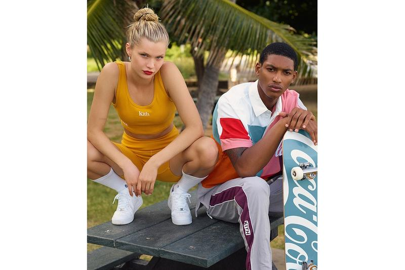 KITH x Coca-Cola Capsule Lookbook Release  Mitchell & Ness Orlebar Brown Golden Bear Garrett Leight Channel Island ronnie fieg