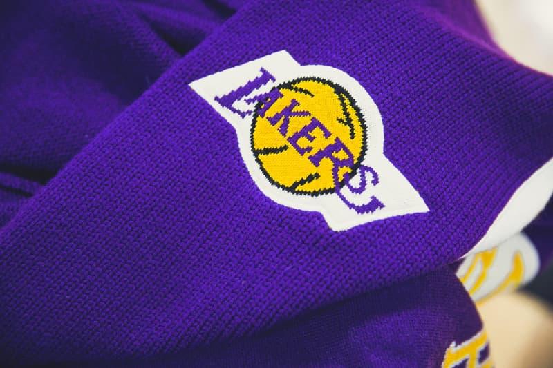 CLOT Mitchell and Ness collaborate new Kobe Bryant 8 24 Lakers jersey golden merino knitted knit wool mamba day yellow purple basketball nba rookie year 1996 1997 shooting shirt warm up pants