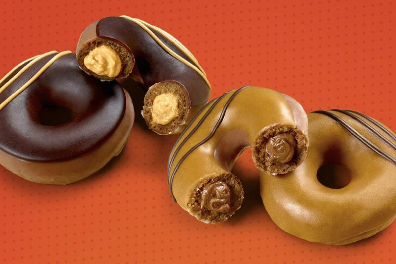 Reese's Krispy Kreme Doughnuts Announcement Release Info Date Location Chocolate Peanut Butter Lovers Original Filled