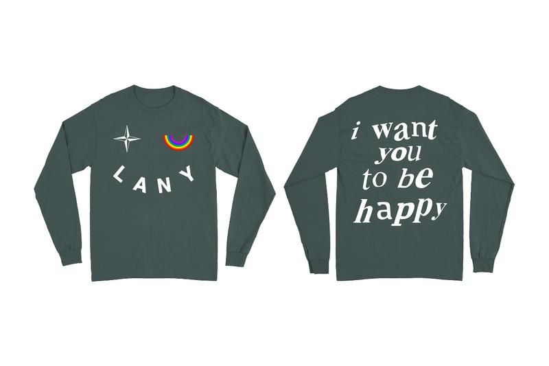 LANY NUBIAN Tokyo Harajuku Merch Pop-Up Announcement beanie earring sweater pullover t shirt crewneck