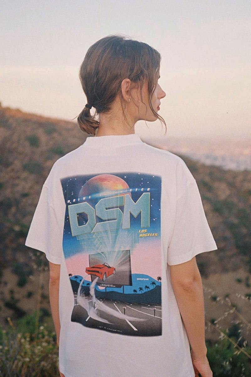 L'Art De l'Automobile Dover Street Market Los Angles LA Capsule Collection Collaboration Lookbook COMME des GARÇONS T-Shirt Air Freshener Crewneck Keychain Sticker Pack Drive in Theatre