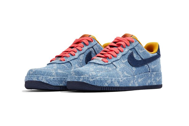 """Levi's by Nike"" Air Force 1 Pack, Customization air max 90 drop release date website august 19 26 2019 available indigo sherpa leather trim fabric corduroy"
