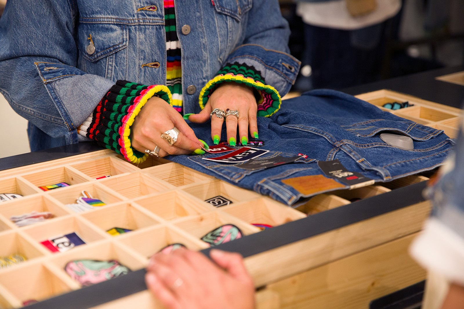 The Levi's® Tailor Shop Offers Up Customizations of its Iconic Back Patch 501's AGR Knit