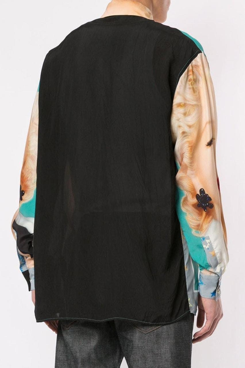LOEWE Marilyn Monroe Print Button-Down Shirt Release Where to buy price 2019 Drake
