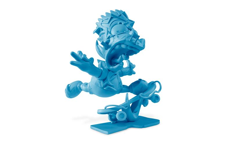 Louis De Guzman Blue 'Elevate' Sculpture Bart Simpson