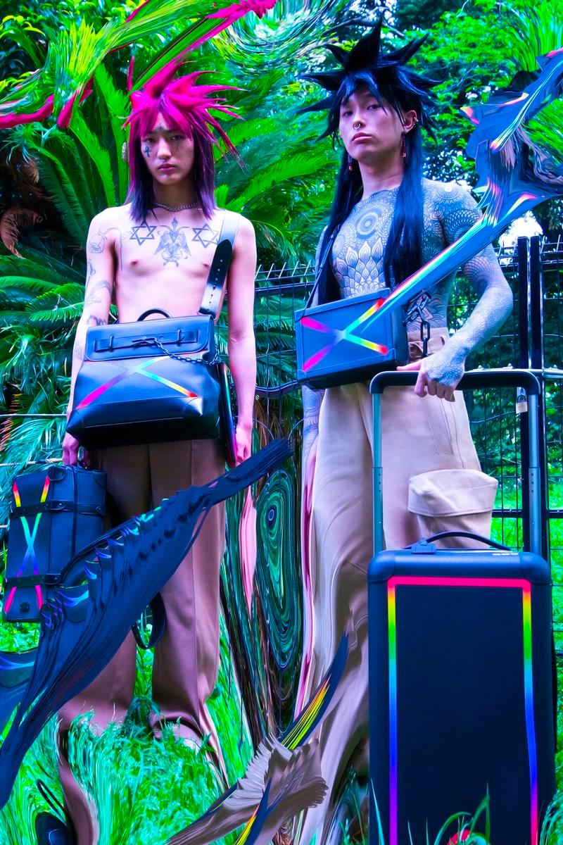 Louis Vuitton Men's Fall/Winter 2019 Campaign Kenta Cobayashi Virgil Abloh off-white prism bags monogram shop now collection