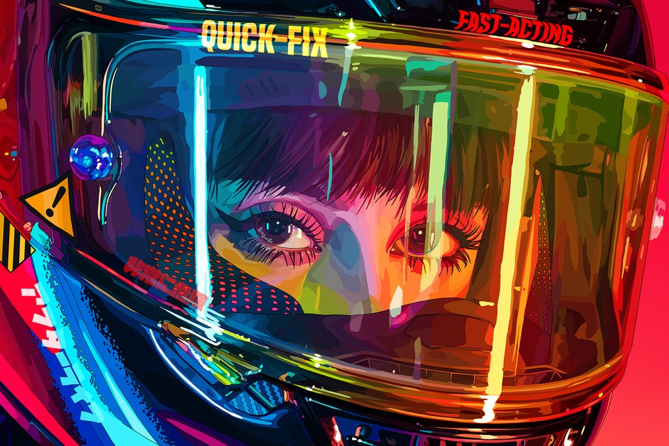 Mad Dog Jones's First-Ever Exhibition Spotlights Stunning Cyberpunk Anime