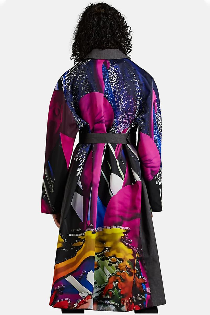 Maison Margiela Flamingo Grey Melange Bonded Topcoat John Galliano Menswear fashion house print flamboyant grey jacket coat Mackintosh