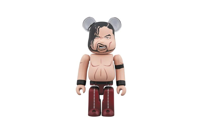 Medicom Toy BEARBRICK AJ Styles Shinsuke Nakajo wwe united states champion third reign professional world wrestling entertainment champion caricature depictions