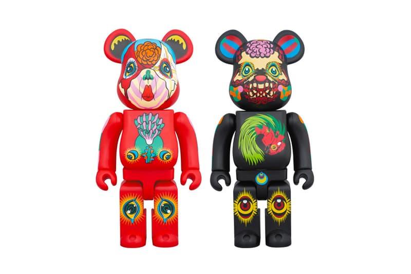 Medicom Toy Taps Keiichi Tanaami for Vivid Psychedelic BE@RBRICKS