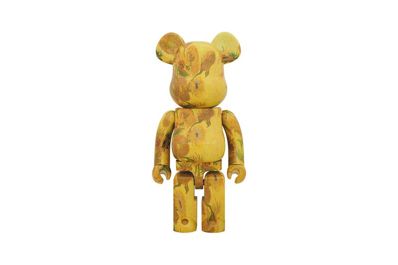The Medicom Toy BEARBRICK Van Gogh Museum collector painting sunflowers