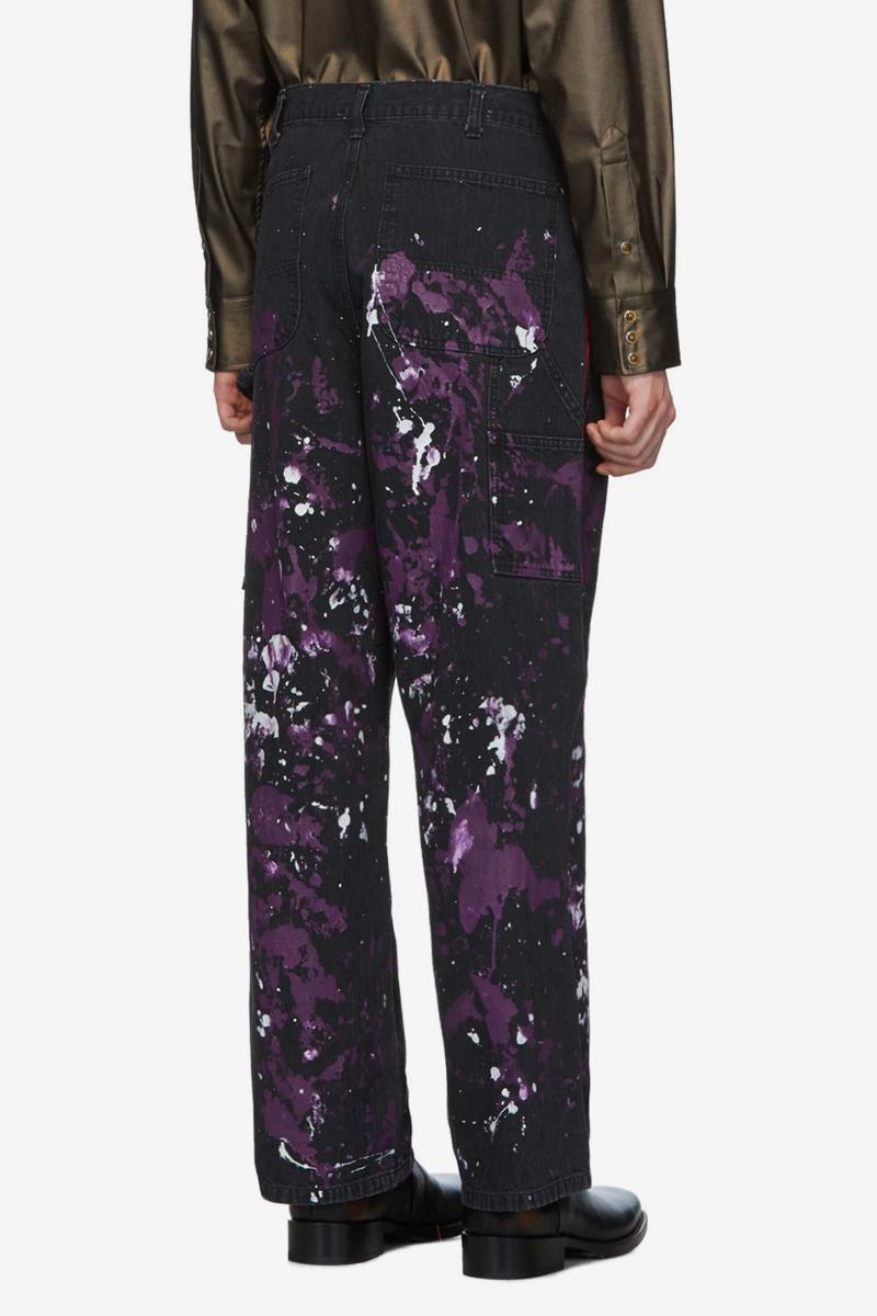 Needles Black Paint Splatter Shirt and Pants Release  SSENSE Japan Nepenthes