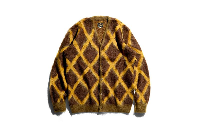Needles Mohair Cardigan diamond black and white checker orange and black polkadot butterfly steve mcqueen papillon brown yellow grid nepenthes
