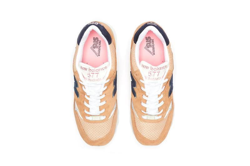 new balance grown up sneakersnstuff 577 release information sand navy blue pink release cop purchase details information trainers sneakers shoes