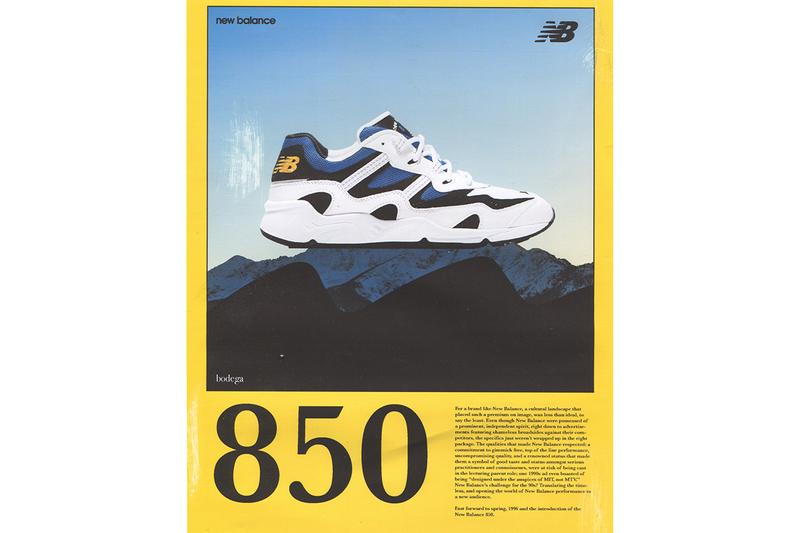 New Balance 850 Bodega North America Exclusive Release Drop Date Sneaker Footwear Dad Shoe Chunky Runner 1996 '90s Editorial Campaign Video Lookbook Boston Los Angeles Stores