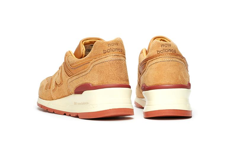 New Balance M997 Red Wing Shoe Company Amsterdam Leather Suede Premium Sneaker Release Information Limited Edition Luxury Pair Brown Tan Red Cream Gum