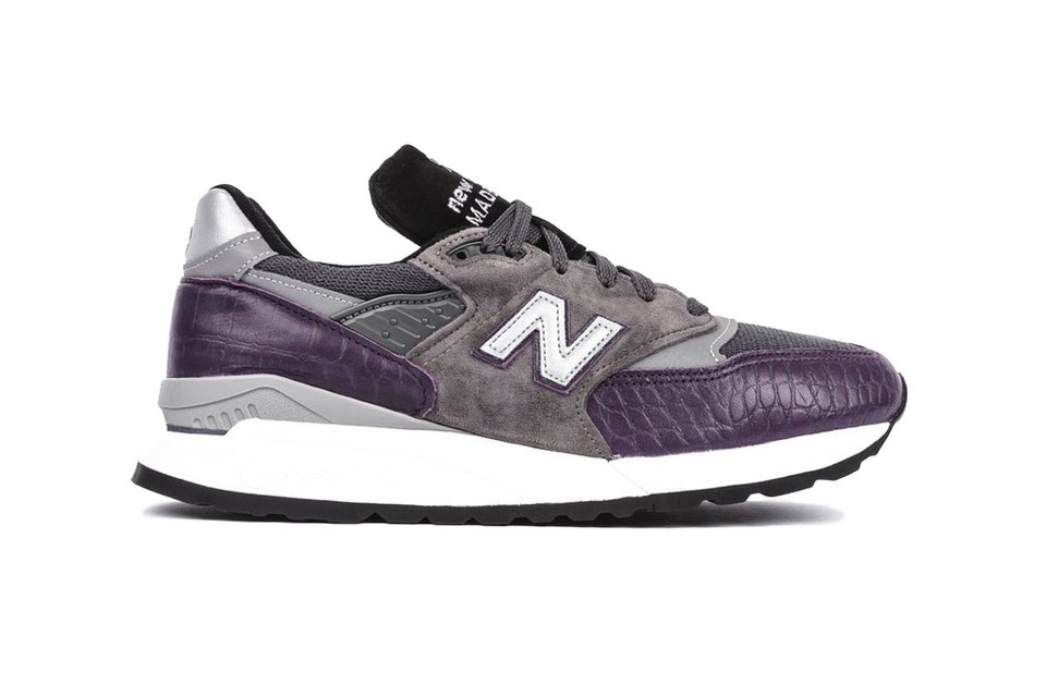 New Balance Jazzes up M998 with Faux Croc Pattern