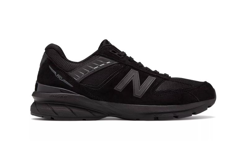 New Balance Made in USA 990v5 Black Encap midsole ortholite cushion technology hand crafted 75 years factory maine footwear sneakers suede mesh rubber