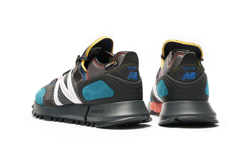New Balance MSCRC White Black Grey Blue Hiking Cordura fabric rugged encap reveal midsole footwear sneaker shoe trek exposed foam topographical map