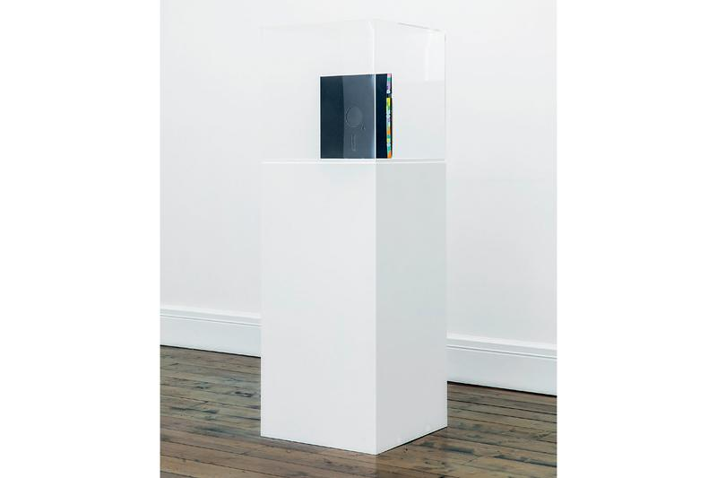 sprueth magers new order group exhibition damien hirst richard hambleton artworks sculptures installations video detial art