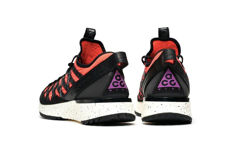 Nike ACG React Terra Gobe Black Space Purple Bright Crimson Release Info Bv6344-001 Bv6344-600 sneakersnstuff sns